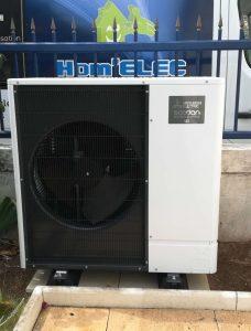 Groupe extérieur pompe à chaleur Air Eau en Charente Maritime